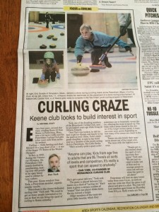 Keene Sentinel article about curling