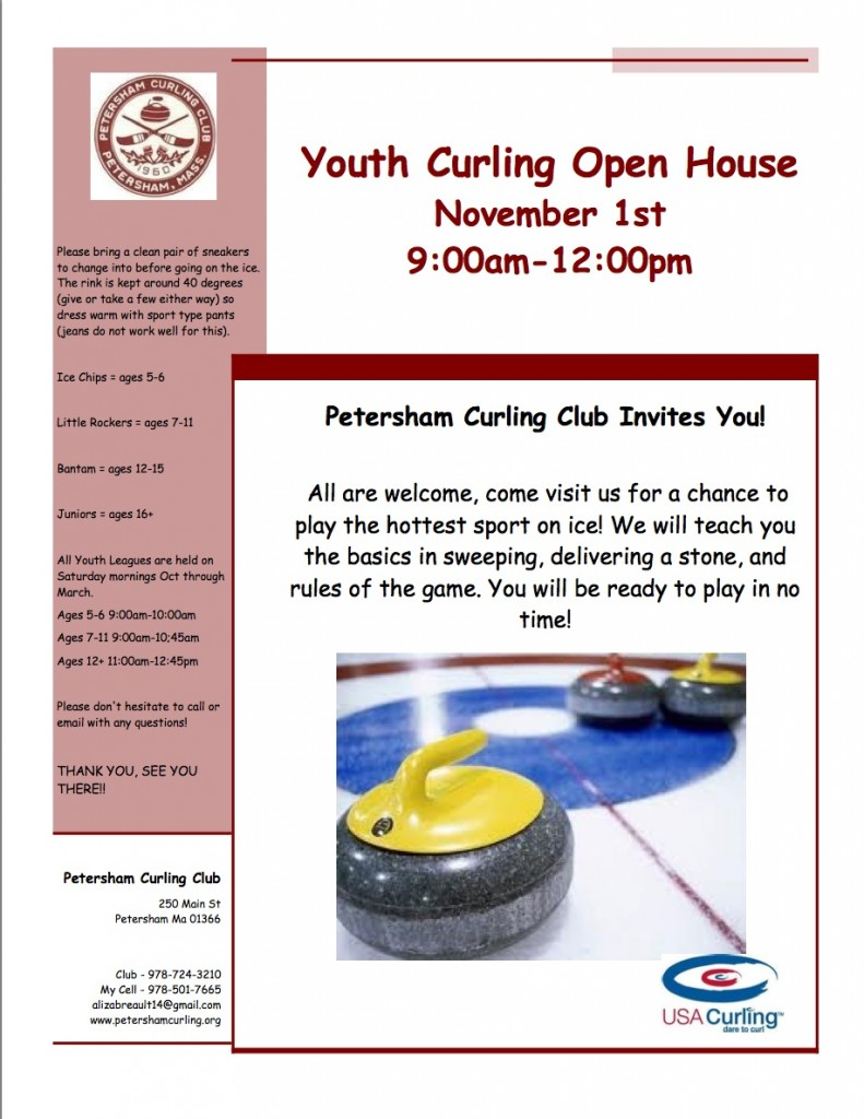 2014 youth open house flyer